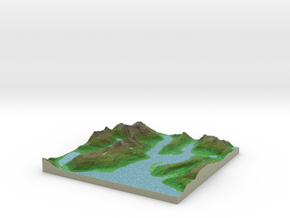 Terrafab generated model Sat Sep 28 2013 01:07:34  in Full Color Sandstone