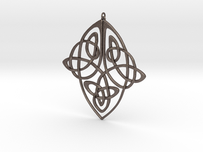 Celtic Pendent 1 in Polished Bronzed Silver Steel