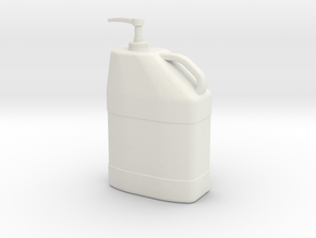 1/10 Scale Hand Cleaner Pump Container in White Natural Versatile Plastic