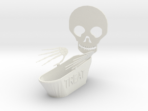 Trick Or Treat Bowl in White Strong & Flexible
