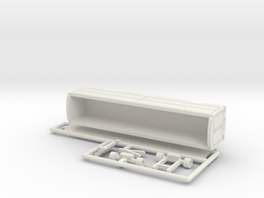 Transport Tonnendachwagen 12 m - 1:160 (n scale) in White Natural Versatile Plastic