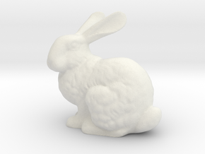 Stanford Bunny in White Natural Versatile Plastic