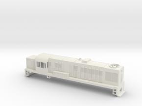 DJ Locomotive, New Zealand, (S Scale, 1:64) in White Natural Versatile Plastic