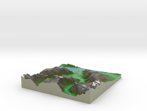Terrafab generated model Tue Oct 01 2013 23:55:45  in Full Color Sandstone