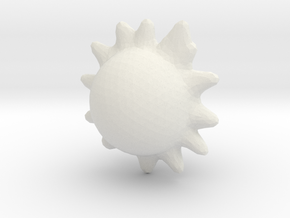 Another Yellow Sun in White Natural Versatile Plastic
