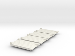 Small Rhino Ferry 1/600 Scale in White Natural Versatile Plastic