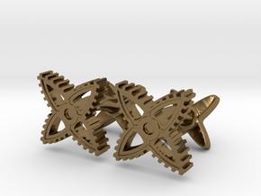 X-Gear Cufflinks in Polished Bronze