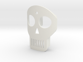 Skull Kabel in White Natural Versatile Plastic