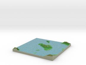Terrafab generated model Sun Oct 06 2013 20:46:45  in Full Color Sandstone