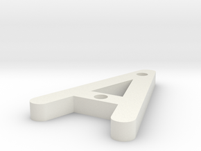 A OCR A EXTENDED in White Natural Versatile Plastic
