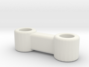 Brio Connector in White Natural Versatile Plastic