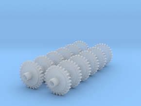 Replacement 2mmFS Terrier Gears With Muffs in Smooth Fine Detail Plastic