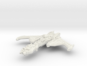 Hark'Or Class Refit Battleship in White Natural Versatile Plastic