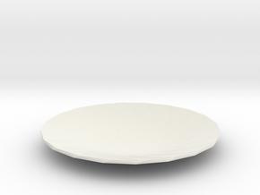 Black Hole Plate in White Natural Versatile Plastic
