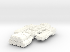 Battlestar Barricade in White Strong & Flexible Polished
