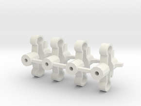 Spring-mounts 13mm in White Natural Versatile Plastic