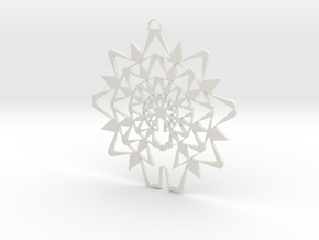 Celestial Pentdant in White Natural Versatile Plastic