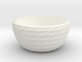 twisted dreams bowl in White Strong & Flexible