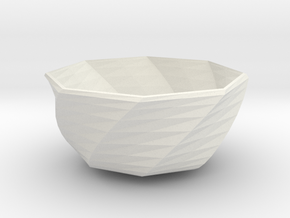 fantasia bowl in White Natural Versatile Plastic