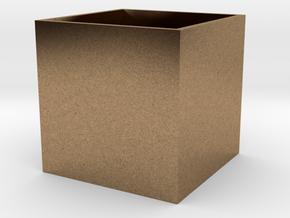 BrendoBox 1 cm^3 b.13 in Natural Brass
