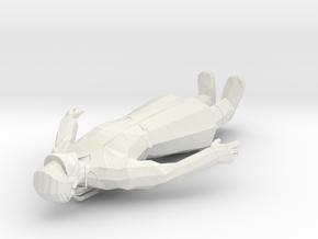 Spaghetti Blacc Figure in White Strong & Flexible