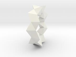 TetrahedralSnake in White Natural Versatile Plastic