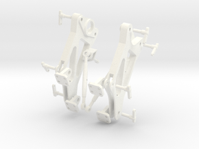 Spare Side Plate Assembly in White Processed Versatile Plastic
