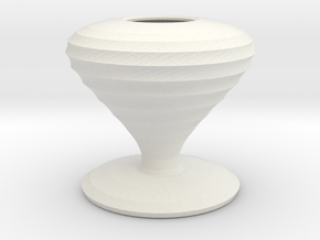 lugosi vase  in White Strong & Flexible