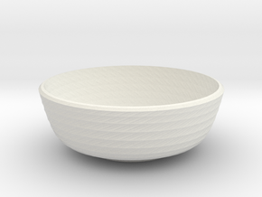 twisted small bowl in White Natural Versatile Plastic