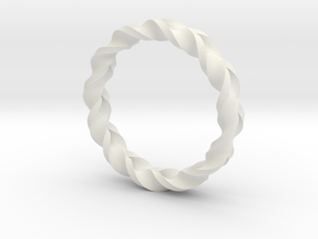 Double Braid Ring in White Strong & Flexible
