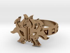 Magic: The Gathering  Rakdos Ring(US Size8) in Natural Brass