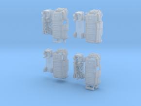 1-220 R-Estafette Fourgon Emergency SET in Smooth Fine Detail Plastic