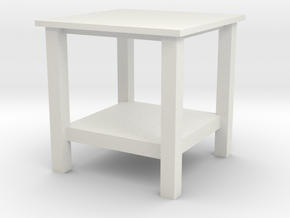 1:24Scale - Coffee Table in White Strong & Flexible