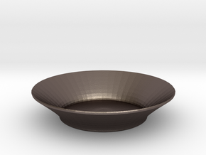 nero salad bowl in Polished Bronzed Silver Steel