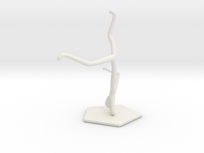 Breakdance Statue (updated) in White Natural Versatile Plastic
