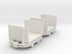 55n2 skip Flat with high Ends in White Natural Versatile Plastic