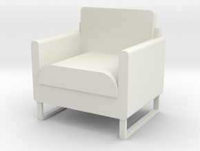 """1/2"""" scale Arm Chair in White Natural Versatile Plastic"""