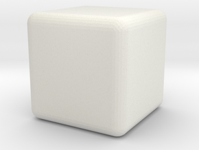 prim footstool in White Natural Versatile Plastic