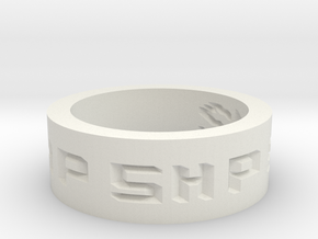 by kelecrea, engraved: SHP 2144 in White Natural Versatile Plastic