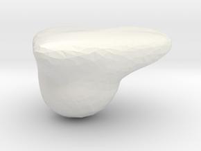 heart in White Natural Versatile Plastic