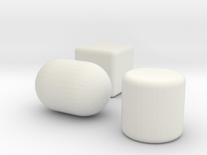 the prims footstools collection in White Natural Versatile Plastic