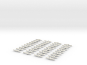 40 missiles / torpedoes in White Natural Versatile Plastic