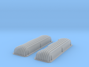 1 12 409 Finned Valve Covers File in Smooth Fine Detail Plastic