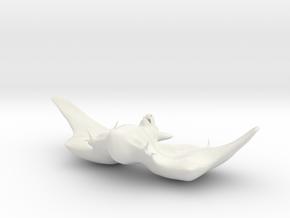 FAT BAT in White Natural Versatile Plastic