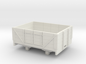 1:32/1:35 4 plank open wagon  in White Natural Versatile Plastic