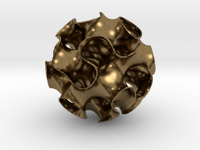 Gyroid Sphere in Natural Bronze