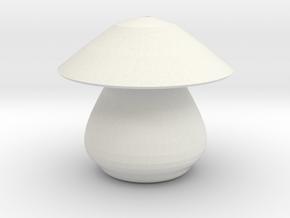 mushroom 2 in White Natural Versatile Plastic