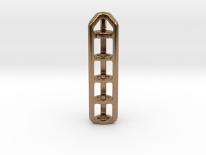 Tritium Lantern 4A (Silver/Brass/Plastic) in Natural Brass
