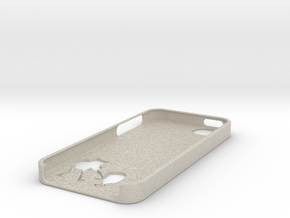 Adventure Time Inspired iPhone 5 case in Natural Sandstone