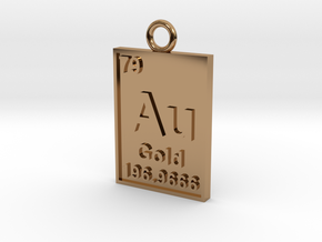 Gold Periodic Table Pendant in Polished Brass